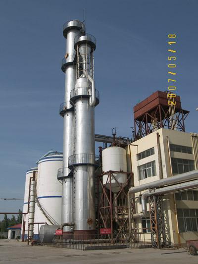 山東同興生物科技有限公司蒸餾塔安裝工程